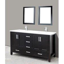 Astoria 60 Double Bathroom Vanity Set with Mirror by Adornus
