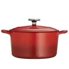 Gourmet Enameled Cast Iron 5.5 Qt. Round Dutch Oven