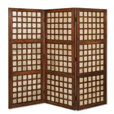 66 x 70 Capice Square Screen 3 Panel Room Divider by Screen Gems