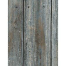 Engineer 10m L x 68cm W Wood Distressed Roll Wallpaper