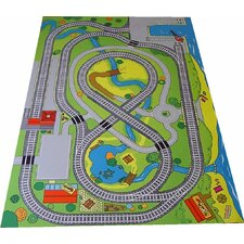 Wooden Railway Play Mat
