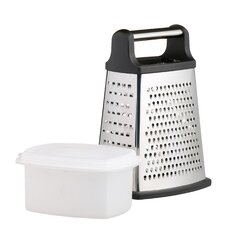 Master Class Stainless Steel Four Sided Box Grater with Collecting Box