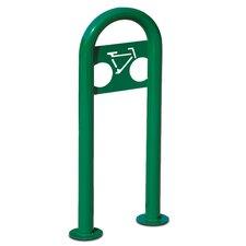 Traditional 2 Bike Marquee Post Freestanding Bike Rack