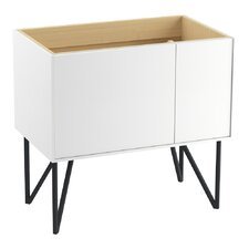 "Jute 36"" Vanity Base with 1 Door and 1 Drawer on Left"