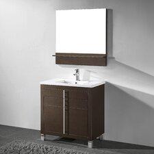 Turin 36 Single Bathroom Vanity Set with Mirror by Adornus