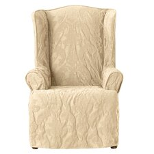 Matelasse Damask Wing Chair Slipcover  by Sure Fit