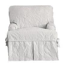 Matelasse Damask Armchair T-Cushion Slipcover