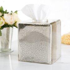 Mercury Glass Vanity Tissue Box Cover