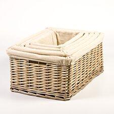 Nesting High Storage Wicker Basket Set (Set of 5)