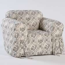 Toile Print Armchair Slipcover  by Classic Slipcovers