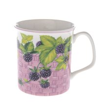 Crown Regal 10cm Fine Bone China Blackberry Fruit Basket Mug
