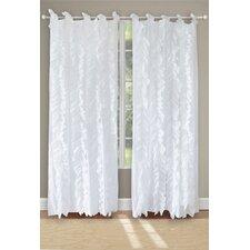 Waterfall Solid Sheer Tab Top Curtain Panels (Set of 2)