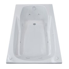 Anguilla 71.25 x 35.5 Rectangular Whirlpool Jetted Bathtub with Drain by Spa Escapes