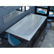 Anguilla 71 x 41.37 Rectangular Whirlpool Bathtub with Reversible Drain by Spa Escapes