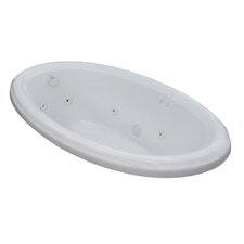 Martinique 70 x 42 Oval Whirlpool Jetted Bathtub with Drain by Spa Escapes
