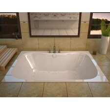 Dominica 59 x 40.5 Rectangular Air Jetted Bathtub with Center Drain by Spa Escapes