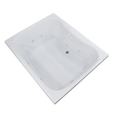 Dominica 58 x 40.5 Rectangular Whirlpool Jetted Bathtub with Center Drain by Spa Escapes