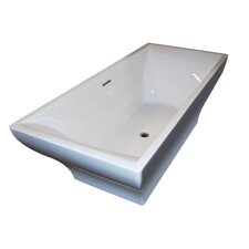 Madre 70.75 x 31.63 Freestanding One Piece Soaking Bathtub with Center Drain by Spa Escapes