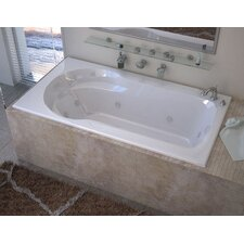 Grenada 59.13 x 31.5 Rectangular Whirlpool Jetted Bathtub with Drain by Spa Escapes