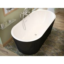 Little Key 66.7 x 31.6 Freestanding One Piece Soaking Bathtub with Center Drain by Spa Escapes
