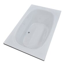 St. Kitts 71 x 35.5 Rectangular Whirlpool Jetted Bathtub with Drain by Spa Escapes
