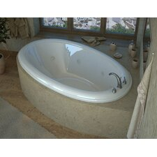 Martinique 78 x 44 Oval Air & Whirlpool Jetted Bathtub with Center Drain by Spa Escapes