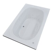 St. Kitts 71 x 35.5 Rectangular Air & Whirlpool Jetted Bathtub with Drain by Spa Escapes