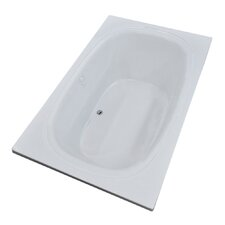 St. Kitts 65.75 x 42.25 Rectangular Soaking Bathtub with Reversible Drain by Spa Escapes