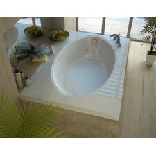 Bermuda 59 x 41.5 Rectangular Air & Whirlpool Jetted Bathtub with Drain by Spa Escapes