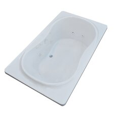Cayman 71.5 x 35.5 Rectangular Whirlpool Jetted Bathtub with Center Drain by Spa Escapes