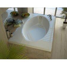 Bermuda 83.38 x 42.5 Rectangular Soaking Bathtub with Reversible Drain by Spa Escapes