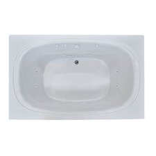St. Kitts 71 x 41.25 Rectangular Whirlpool Jetted Bathtub with Drain by Spa Escapes