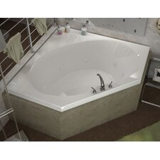 St. Barts 85.25 x 63.25 Corner Whirlpool Jetted Bathtub with Center Drain by Spa Escapes
