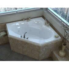 Curacao 61.13 Corner Air & Whirlpool Jetted Bathtub with Center Drain by Spa Escapes