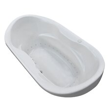 Antigua 70 x 41 Oval Air Jetted Bathtub with Center Drain by Spa Escapes