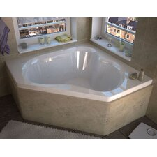 Tobago 59.25 x 59.25 Corner Soaking Bathtub with Center Drain by Spa Escapes