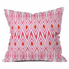 Ikat Watermelon Outdoor Throw Pillow by DENY Designs