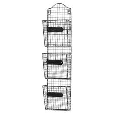 Iron Basket Wall Storage