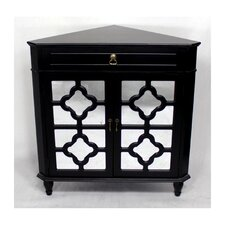 Wooden Corner Cabinet with 1 Drawer and 2 Doors by Heather Ann Creations