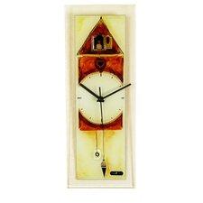 Rectangle Glass Wall Clock with Cuckoo Clock