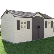 Side Entry 14.5 ft. W x 7.5 ft. D Plastic Storage Shed