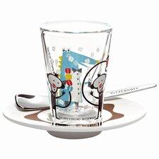 3-tlg. Espresso-Set Bacino