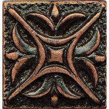 """Ambiance Insert Rising Star 1"""" x 1"""" Resin Tile in Venetian Bronze"""