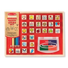 Wooden Favorite Things Stamp Set by Melissa & Doug