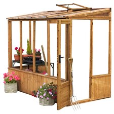 Premium Pent 1.3m W x 2.5m D Mini Greenhouse