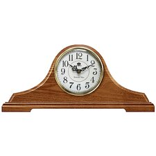Oak Tambour Mantel Clock with Chime