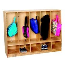 Childcraft 2 Tier 5 Wide Coat Locker
