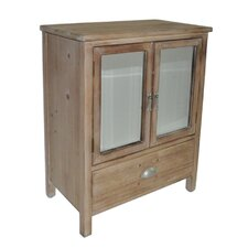 1 Drawer Wood cabinet with Double Bevelled Mirror Doors by Cheungs