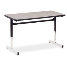 """24"""" W 8700 Series Adjustable Training Table with Casters"""