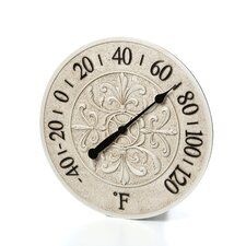 """15"""" Le Blanc Fleur Wall Thermometer"""